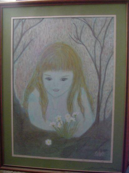 Inocencia Pastel Cartulina Retrato