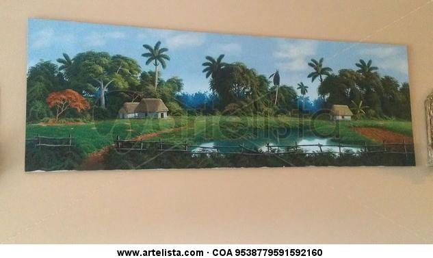 paisaje cubano Landscaping Oil Canvas