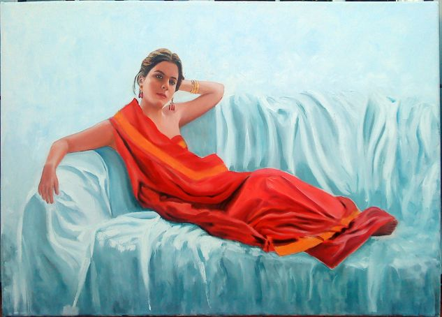 sari rojo