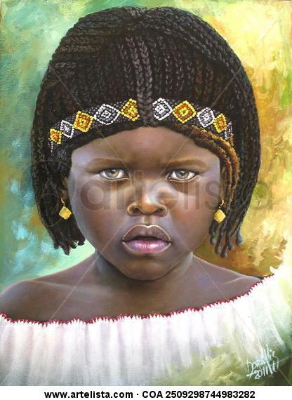 niña de raza negra 40