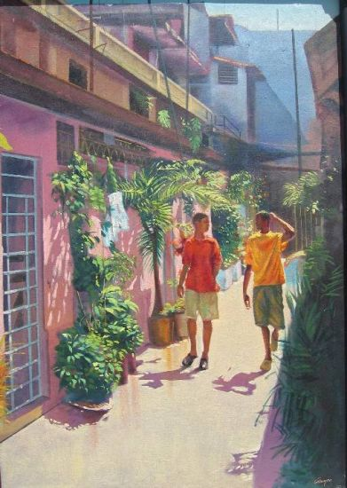 Vecinos Oil Canvas Landscaping