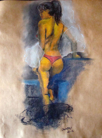 Ella Paper Pastel Nude Paintings