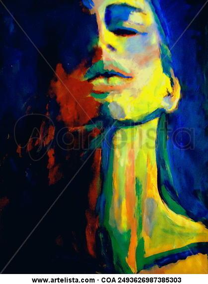 Enlightenment Lienzo Acrílico Retrato