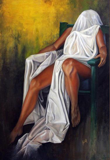 mujer reclinada