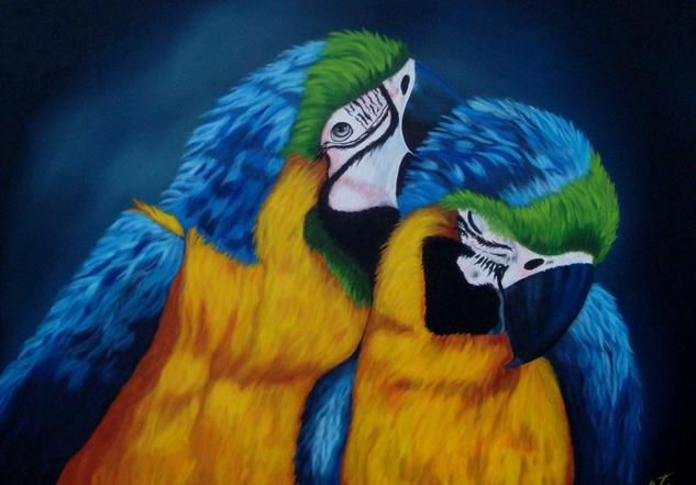 loros Canvas Oil Animals