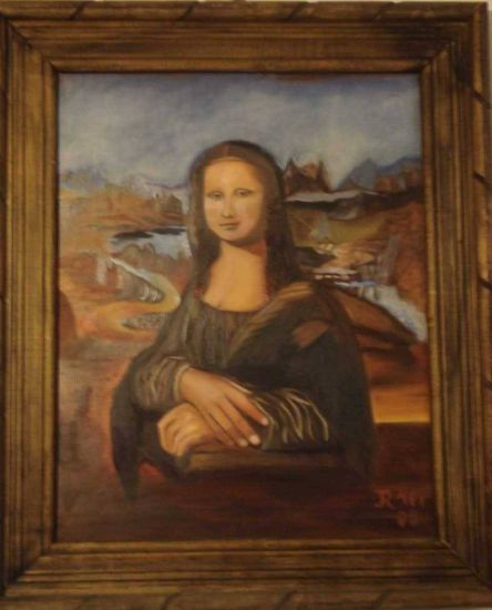 La Gioconda (Interpretación) Óleo Tabla Retrato
