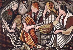 Mulleres en roda Tapices Textil