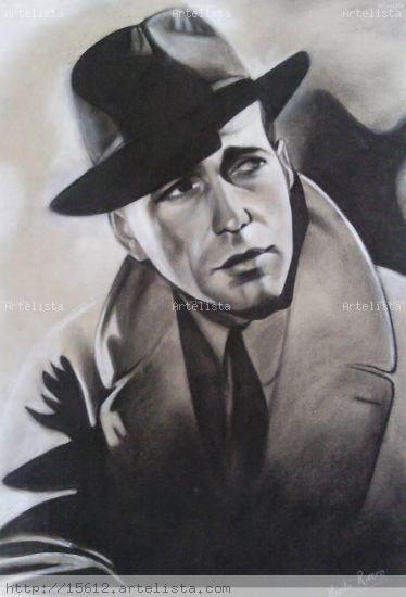 Humphrey Bogart Paisaje Otros Lápiz (Negro)