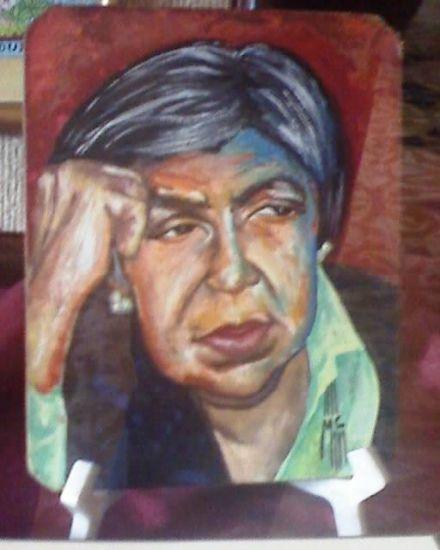 Leticia de Oyuela Otros Gouache Retrato