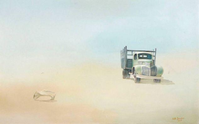 el camioncito ciego Óleo Otros Paisaje