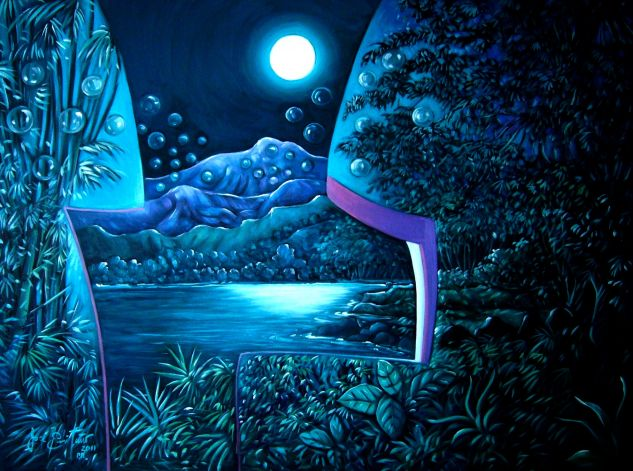 Fantasía Nocturnal Oil Canvas Landscaping