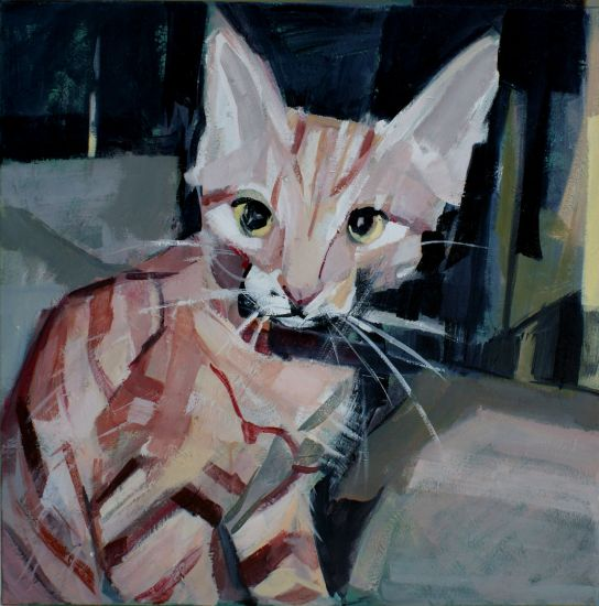 Retrato de mi gato Canvas Acrylic Animals