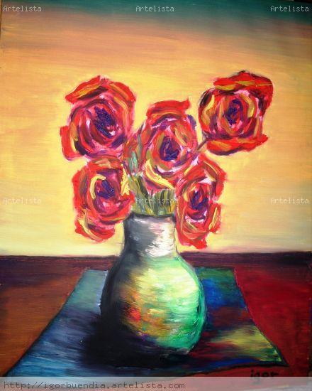 bodegon#15 Óleo Lienzo Floral