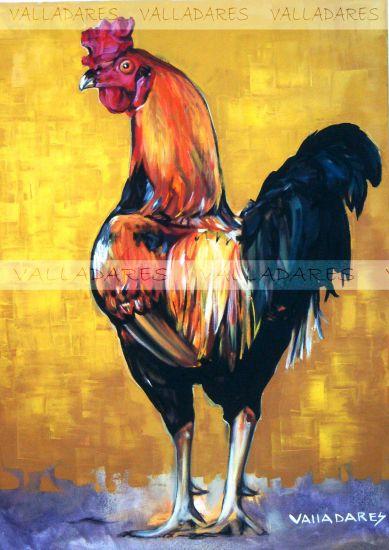 Gallo Óleo Lienzo Animales