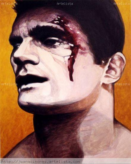 Boxeo 3 Acrylic Canvas Figure Painting