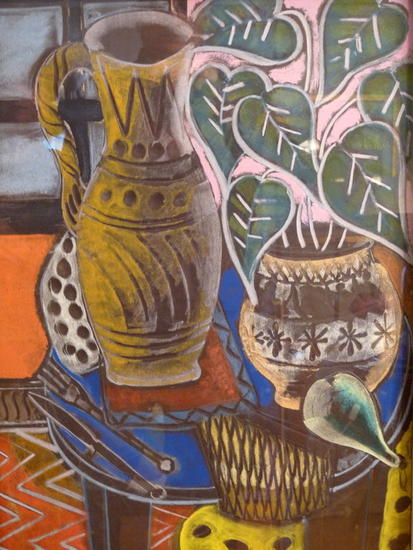 Bodegón con helechos del bosque Others Still Life Paintings Oil
