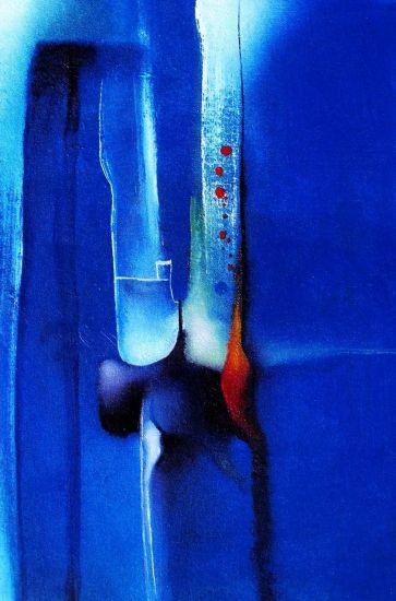 Pintura en azul Óleo Lienzo Paisaje