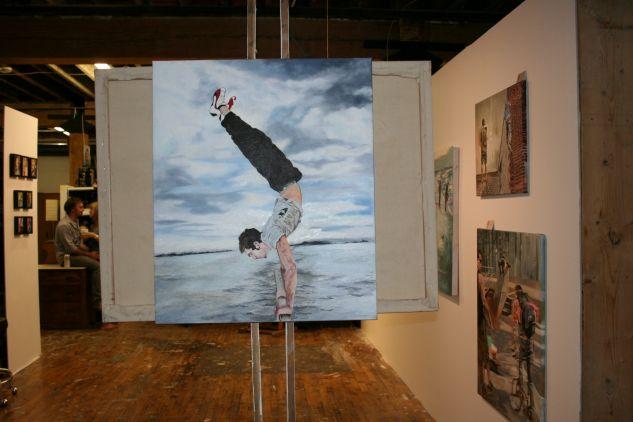 Parkour 2010 oil painting