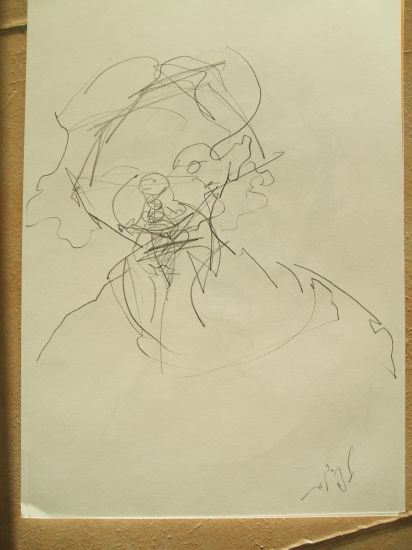 abstraccion lyrica - cabeza Pencil (Black) Paper Portrait