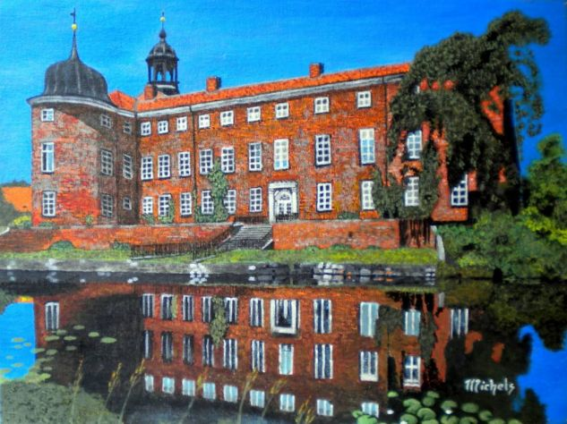 Schloss Eutin Acrylic Canvas Landscaping