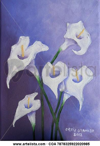 Calas Floral Painting Canvas Oil