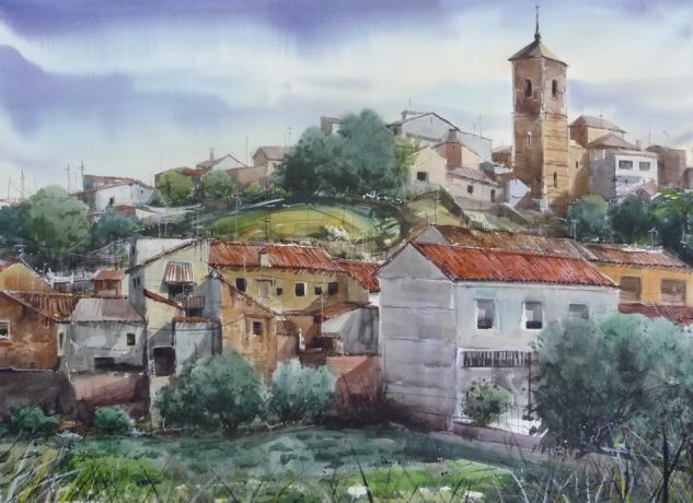 NOBLEJAS (TOLEDO.) Watercolour Paper Landscaping