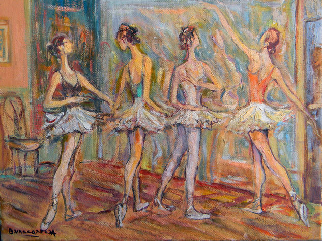 EL ENSAYO Canvas Oil Figure Painting