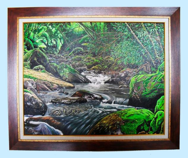 QUEBRADA MESITAS DEL COLEGIO - COLOMBIA Landscaping Oil Canvas