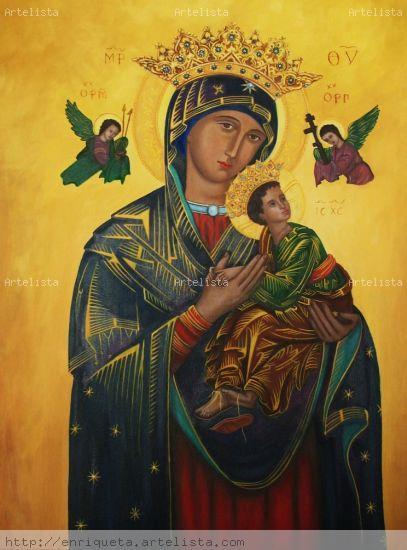 Virgen de Perpetual Socorro Óleo Lienzo Otros