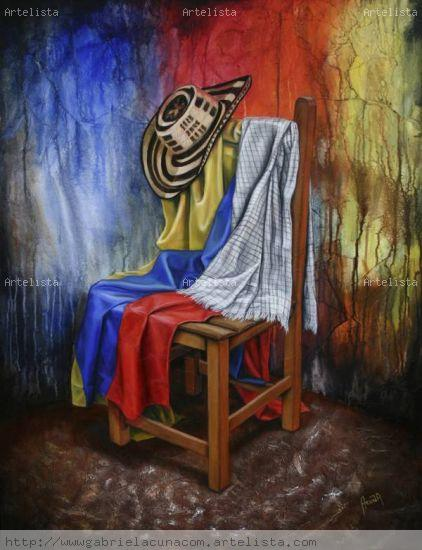 Rincon Tipico Colombiano Canvas Mixed media Still Life Paintings