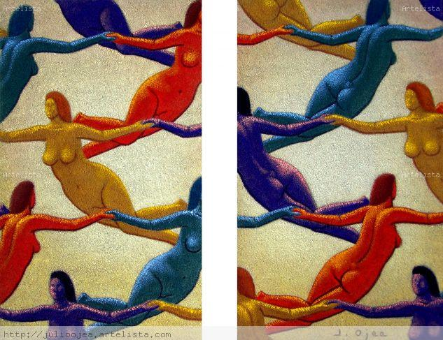 Trasmigrazioni (diptico) Óleo Tabla Desnudos