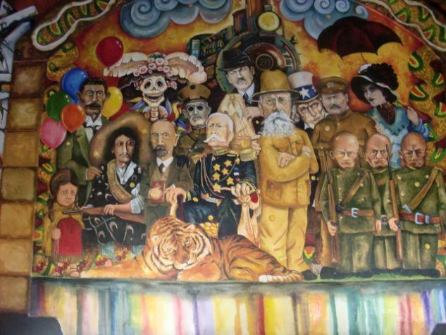 recorete de mural Óleo Lienzo Paisaje