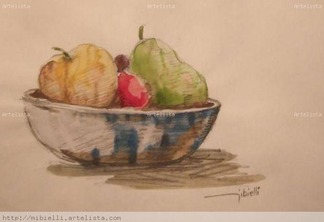 Natureza morta com frutas Watercolour Paper Others
