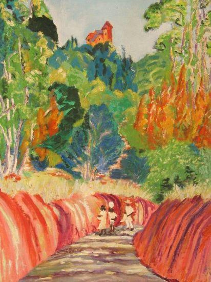 Chemin Creux Oil Canvas Landscaping