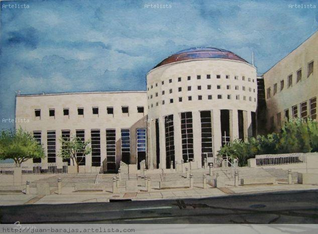New Federal Courthouse Watercolour Paper Landscaping
