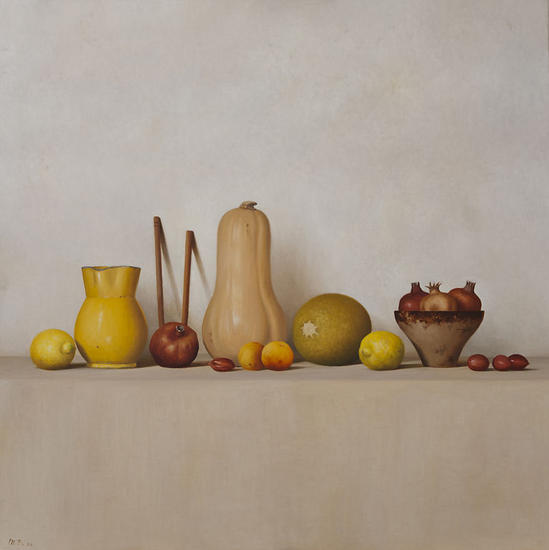 Naturaleza con calabaza Canvas Oil Still Life Paintings