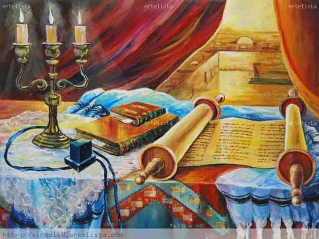 Still Life with a Torah scroll. Desnudos Óleo Lienzo