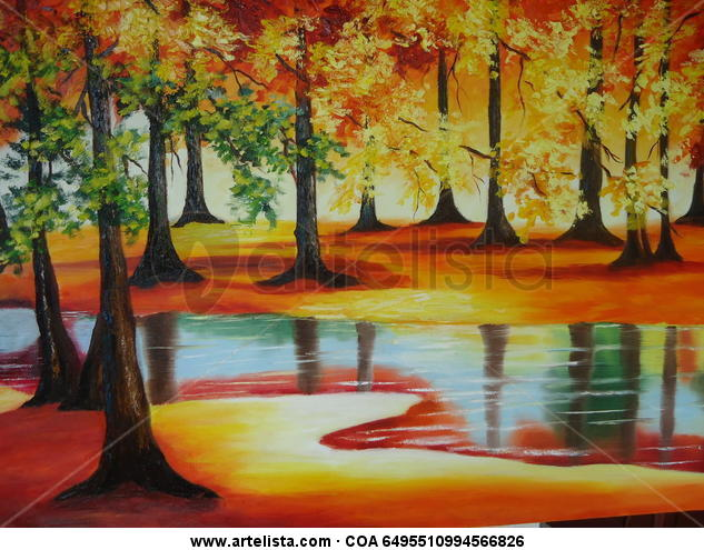 Paisaje tropical Landscaping Oil Canvas