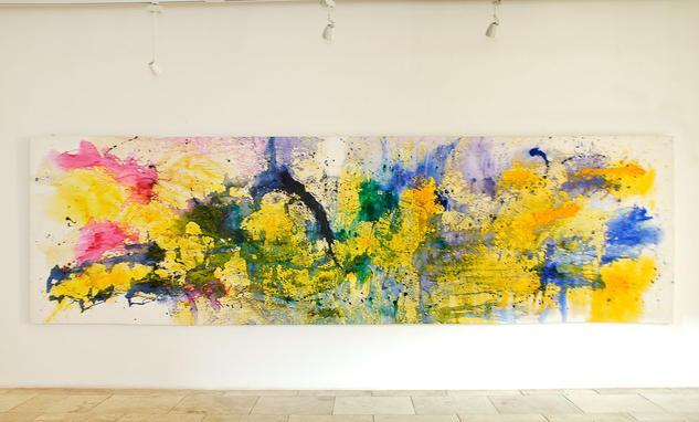Cartografias abstractas jose maria casas for Definicion de pintura mural