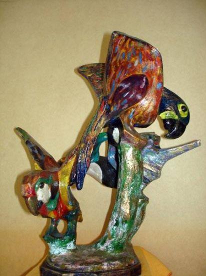 Pássaros Pantaneiros Figurative Terracotta
