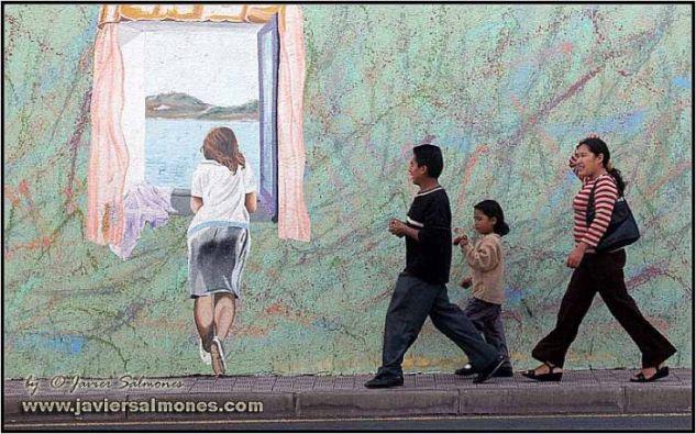 GRAFFITIS 003 Óleo Lienzo Paisaje