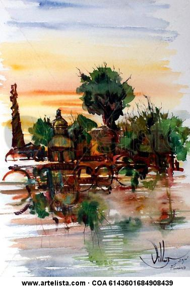 FLORENCIA Paper Watercolour Landscaping