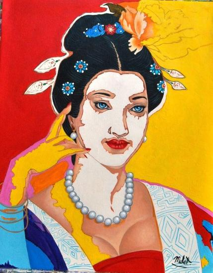 American Geisha Canvas Acrylic Others