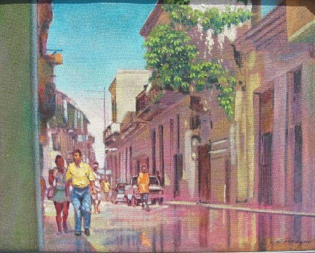 Mi vieja y Joven Habana Óleo Lienzo Paisaje