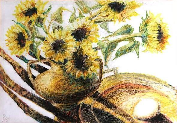Flowers Helios Pastel Papel Bodegones