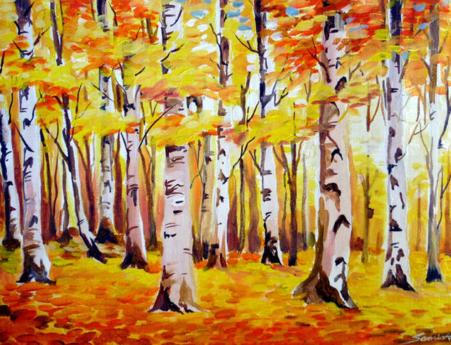 Autum Forest II Acrylic Canvas Landscaping