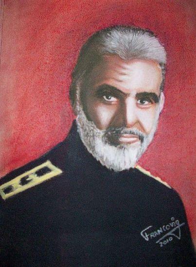 Sean Connery Pastel Papel Retrato