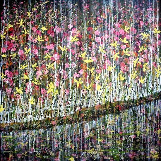 Silvestre 12 Lienzo Acrílico Floral