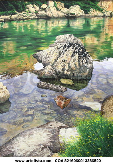 la roca herida (cales coves - menorca)