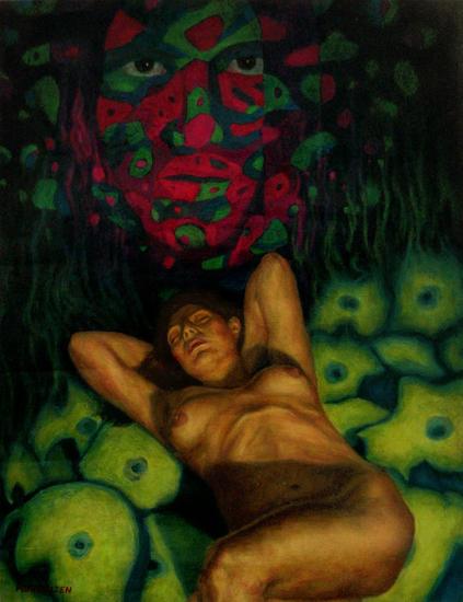 El camino al núcleo Papel Óleo Desnudos
